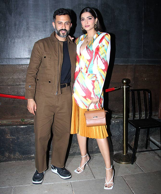 Bollywood actress Sonam Kapoor with hubby Anand Ahuja