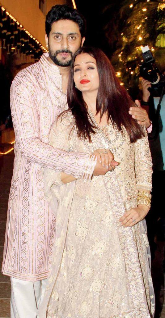 Bollywood couples Aishwarya Rai and Abhishek Bachchan