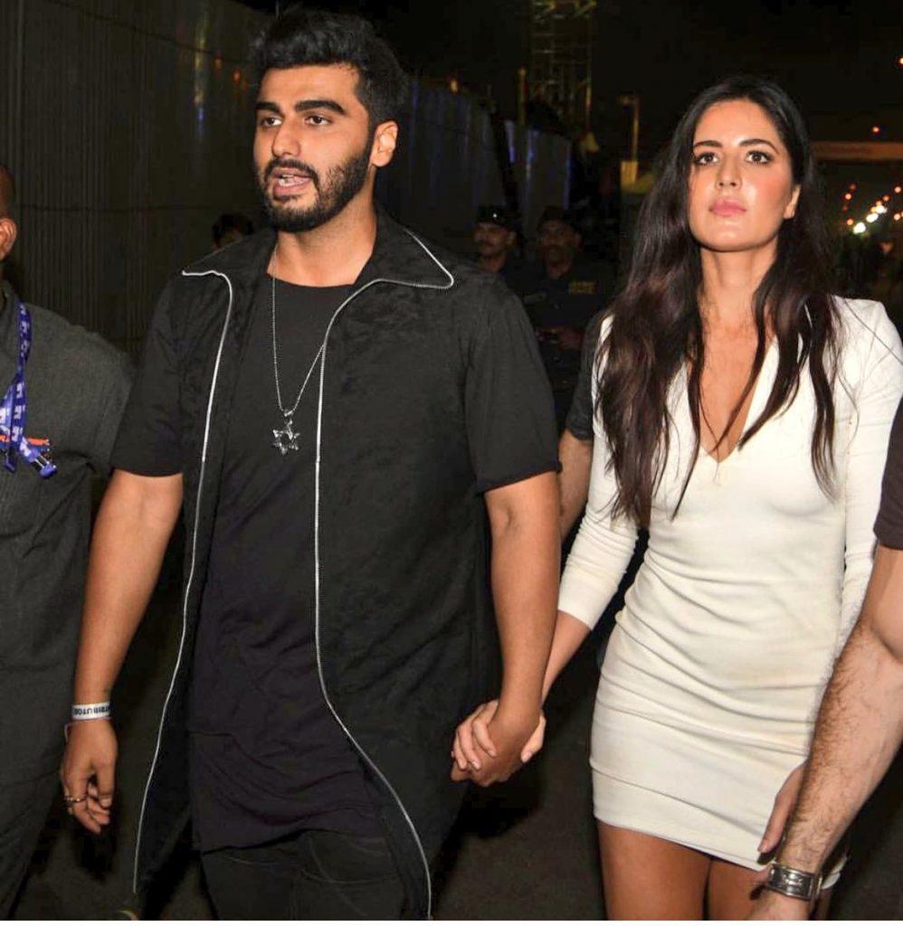 Bollywood actors arjun kapoor alongside katrina kaif
