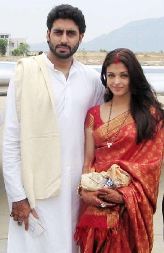 Aishwarya Rai and Abhishek Bachchan wedding pics.