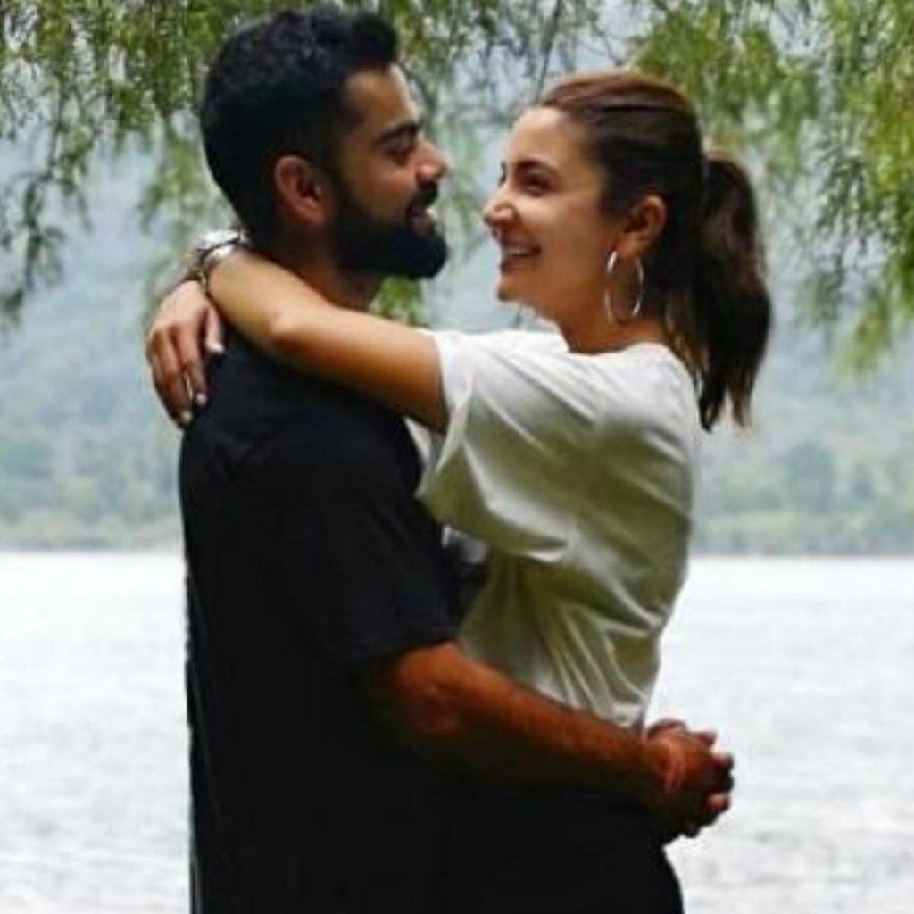Actress Anushka Sharma alongside husband Virat Kohli