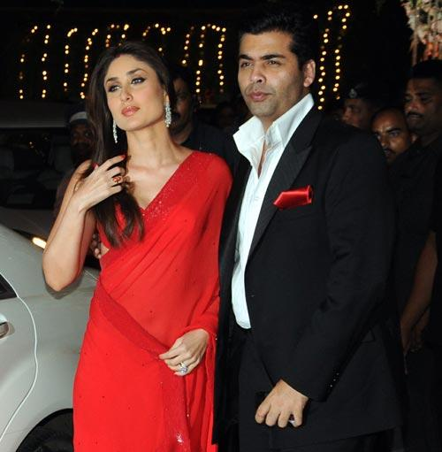 Karan Johar alongside Actress Kareena Kapoor Khan