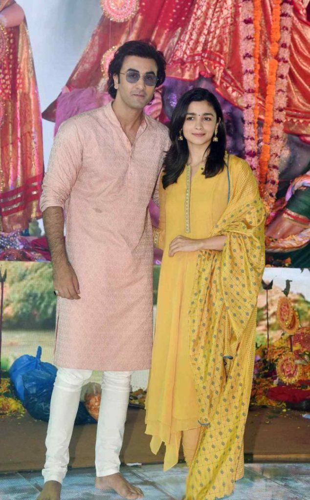 Bollywood actor Alia Bhatt alongside beau Ranbir Kapoor
