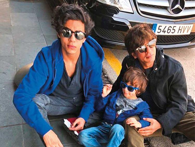 shah Rukh khan with son Abram