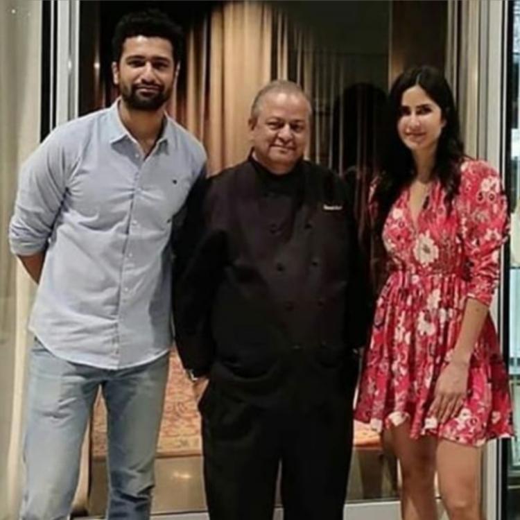 Katrina kaif alongside Vicky Kaushal