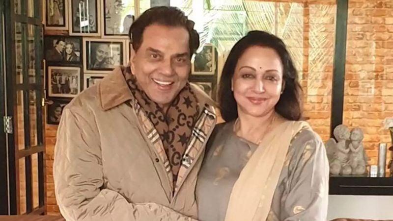 Dharmendra and Hema Malini