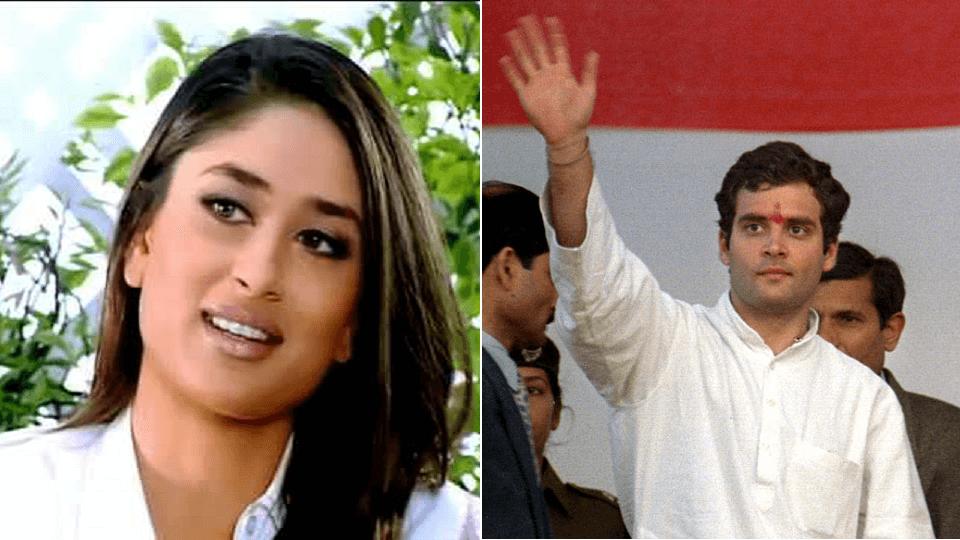 Kareena Kapoor and Rahul Gandhi