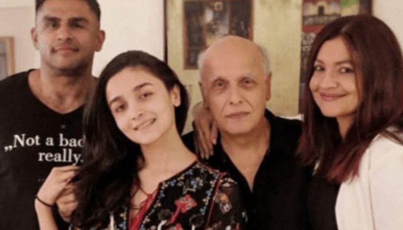 Rahul Bhatt with Alia Bhatt and Mahesh Bhatt
