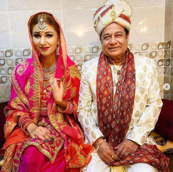 Jasleen Matharu and Anup jalota wedding